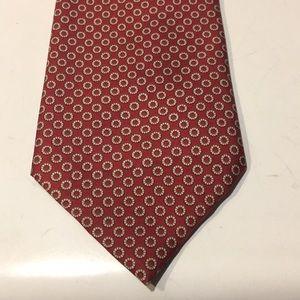 Burberry men's silk tie geometric print